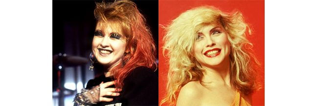 Cyndi Lauper and Debbie Harry