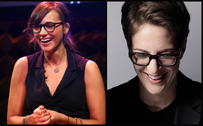Rashida Jones and Rachel Maddow