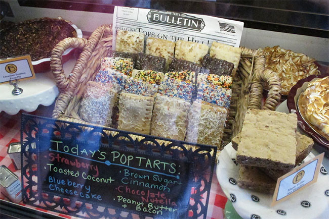 Ted's Bulletin Poptart Display